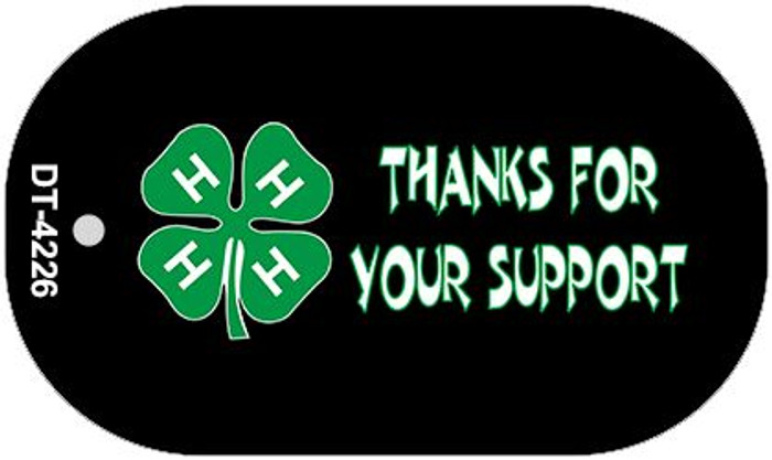 Thanks For Your Support 4-H Wholesale Metal Novelty Dog Tag Kit DT-4226