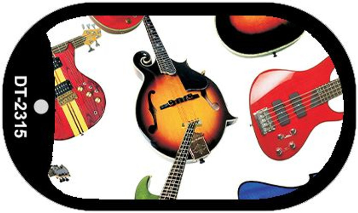 Guitars White Background Wholesale Metal Novelty Dog Tag Kit DT-2315