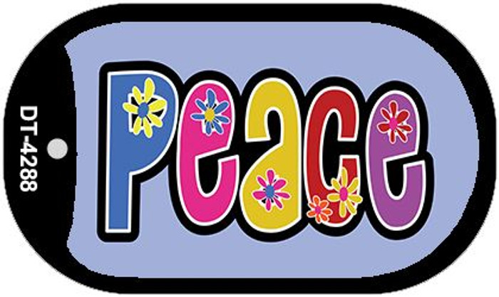 Peace And Flowers Wholesale Metal Novelty Dog Tag Kit DT-4288