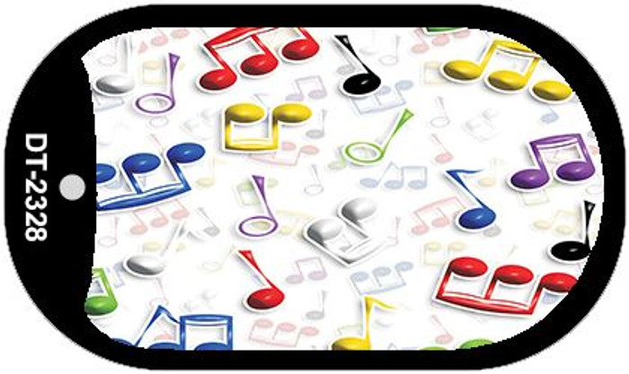 Musical Notes Multi-Color Wholesale Metal Novelty Dog Tag Kit DT-2328