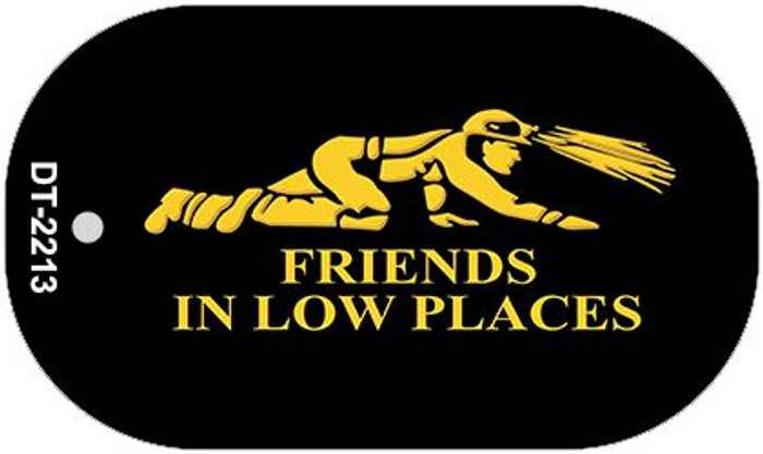 Miners Friends In Low Places Wholesale Metal Novelty Dog Tag Kit DT-2213
