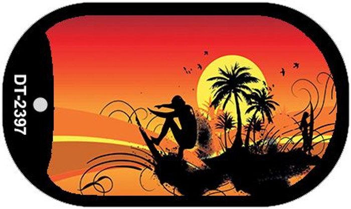 Sunset Surfer Wholesale Metal Novelty Dog Tag Kit DT-2397