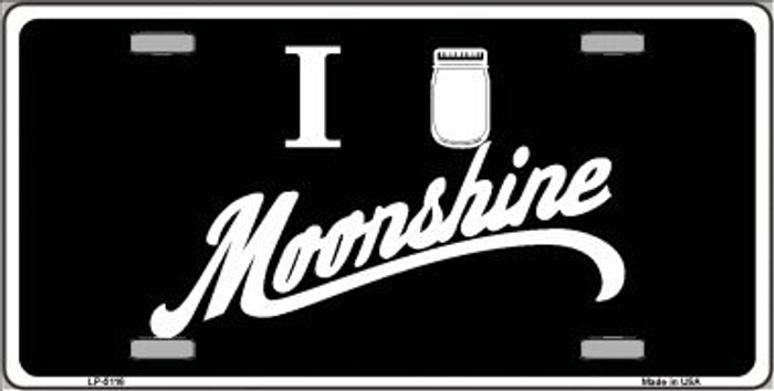 I Love Moonshine Novelty Wholesale Metal License Plate LP-5116