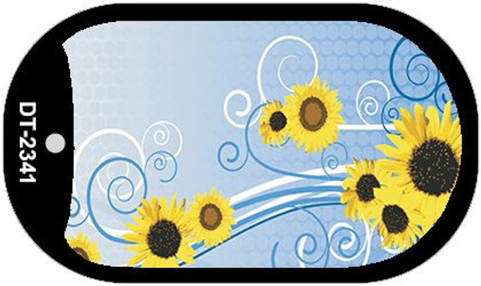 Sunflowers Wholesale Metal Novelty Dog Tag Kit DT-2341