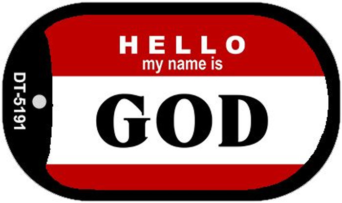 Name Is God Wholesale Metal Novelty Dog Tag Kit DT-5191