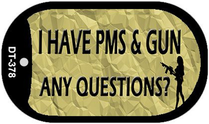 PMS And A Gun Wholesale Metal Novelty Dog Tag Kit DT-378