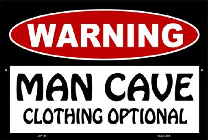 Man Cave Clothing Optional Wholesale Metal Novelty Large Parking Sign LGP-130
