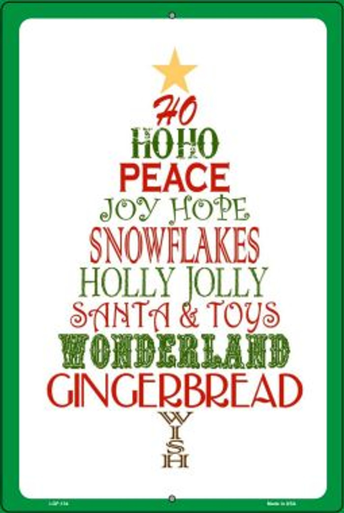 Christmas Tree Wholesale Holiday Metal Novelty Large Parking Sign LGP-134