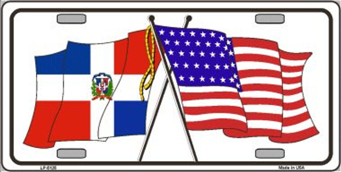 United States Dominican Republic Crossed Flags Wholesale Metal Novelty License Plate Sign LP-5125