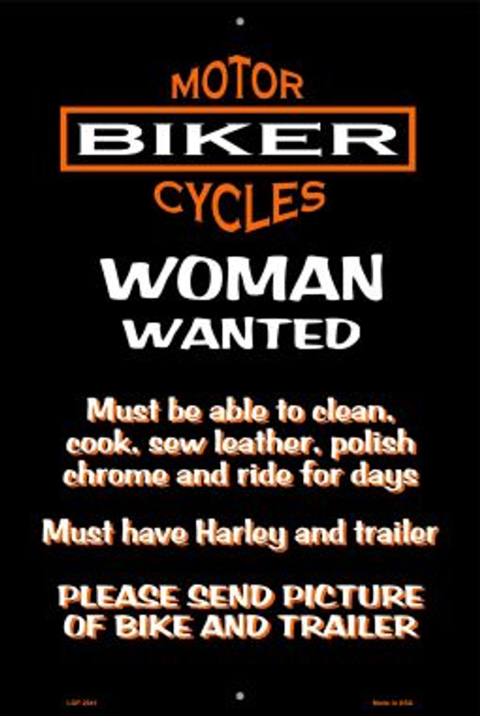 Woman Wanted Wholesale Metal Novelty Large Parking Sign LGP-2041