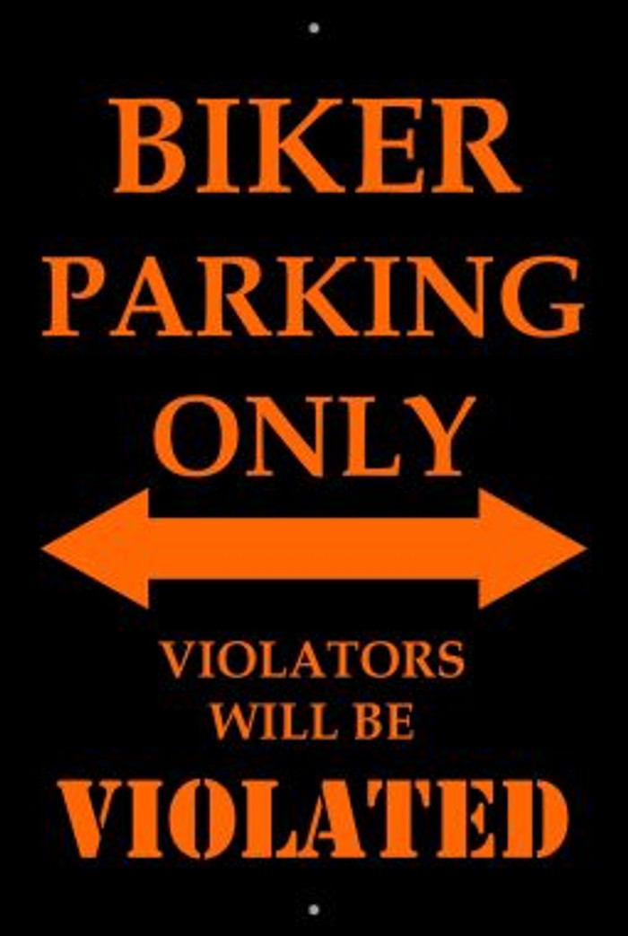 Biker Parking Only Wholesale Metal Novelty Large Parking Sign LGP-2050