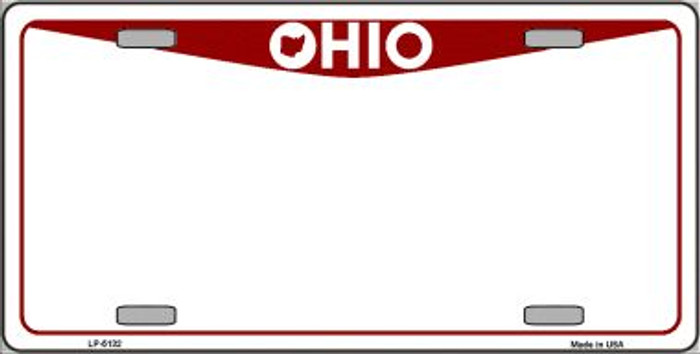 Ohio Novelty State Background Blank Wholesale Metal License Plate LP-5132