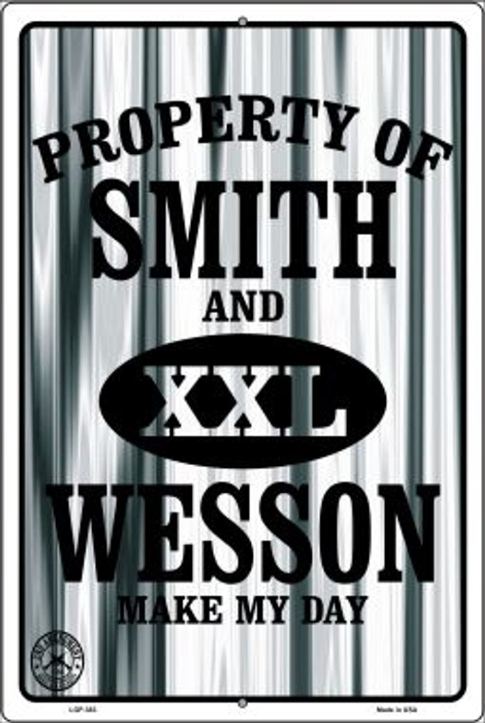 Smith and Wesson Wholesale Metal Novelty Large Parking Sign LGP-383