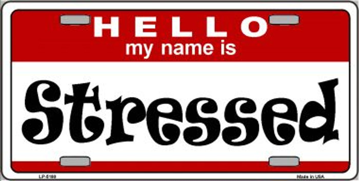 Stressed Wholesale Metal Novelty License Plate LP-5188