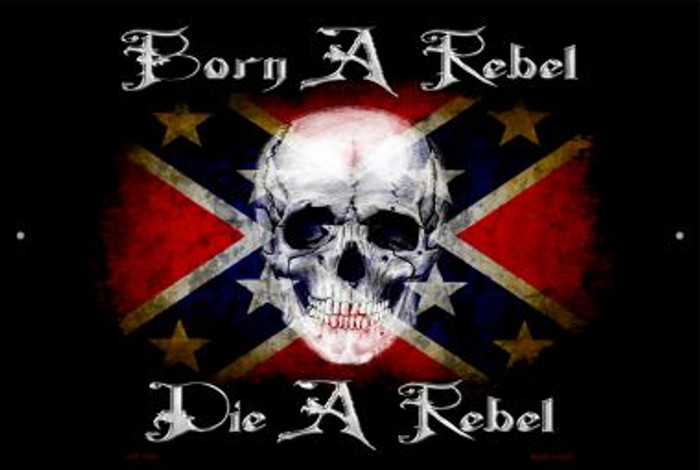 Born A Rebel Wholesale Metal Novelty Large Parking Sign LGP-1206