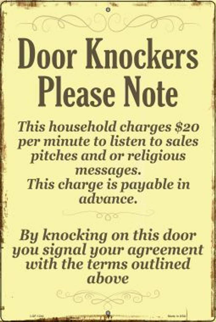 Door Knockers Wholesale Metal Novelty Large Parking Sign LGP-1244