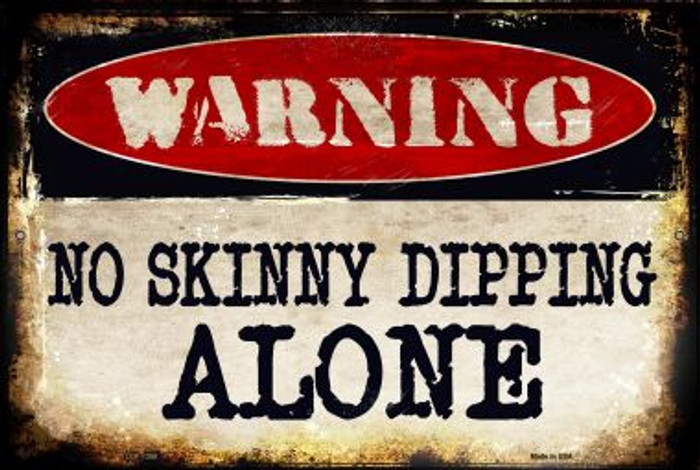 No Skinny Dipping Wholesale Metal Novelty Large Parking Sign LGP-1358