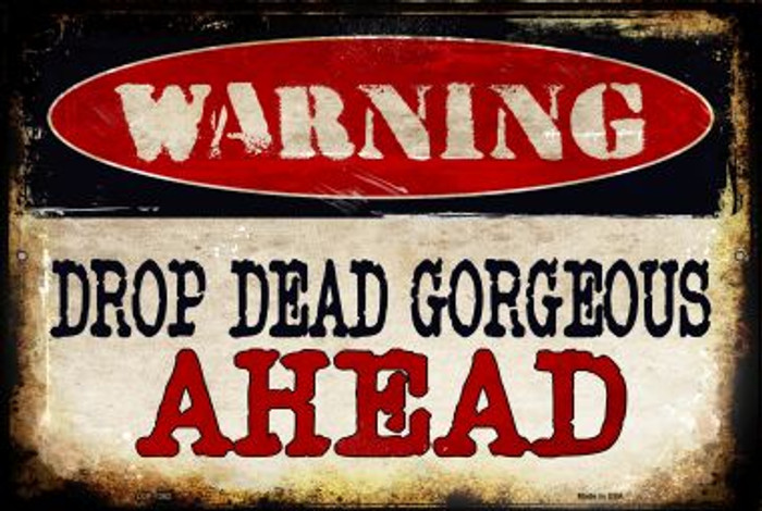 Drop Dead Gorgeous Wholesale Metal Novelty Large Parking Sign LGP-1362