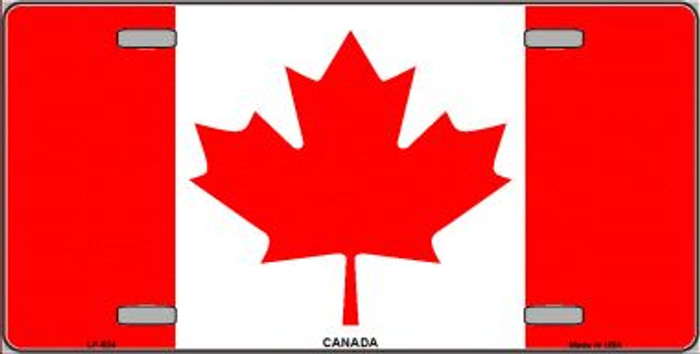 Canadian Flag Wholesale Metal Novelty License Plate LP-524