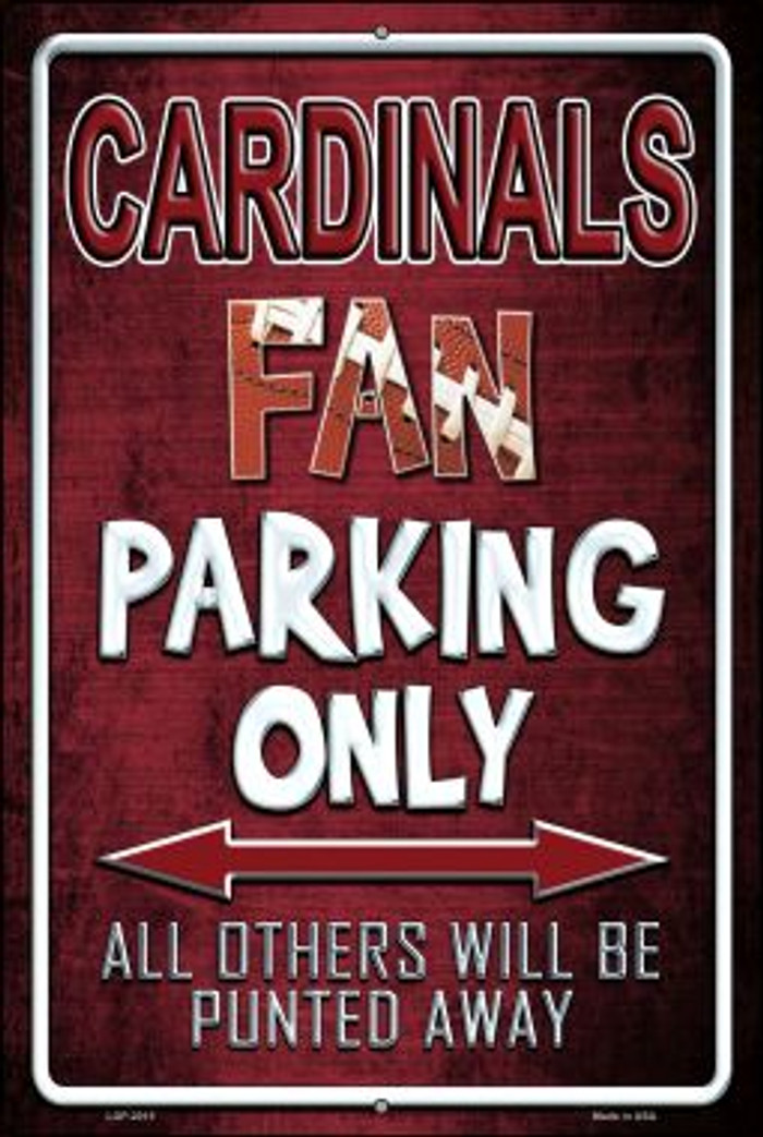 Cardinals Wholesale Metal Novelty Large Parking Sign LGP-2015
