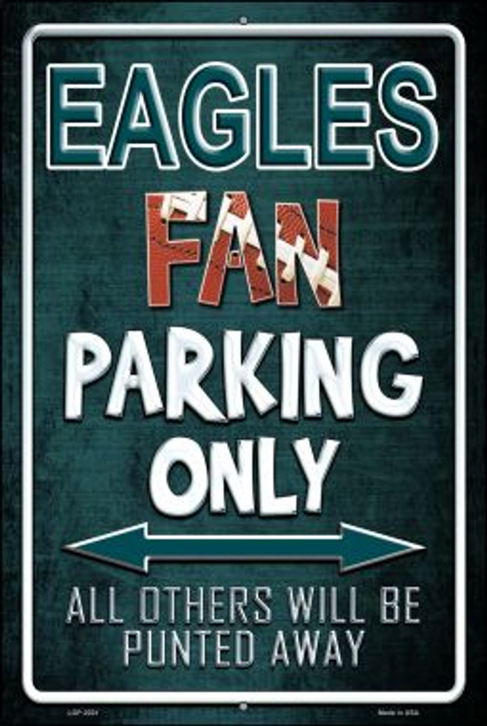 Eagles Wholesale Metal Novelty Large Parking Sign LGP-2021
