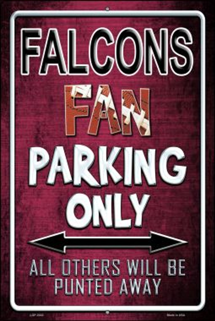Falcons Wholesale Metal Novelty Large Parking Sign LGP-2022