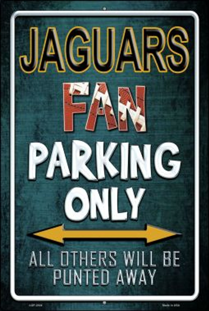 Jaguars Wholesale Metal Novelty Large Parking Sign LGP-2024