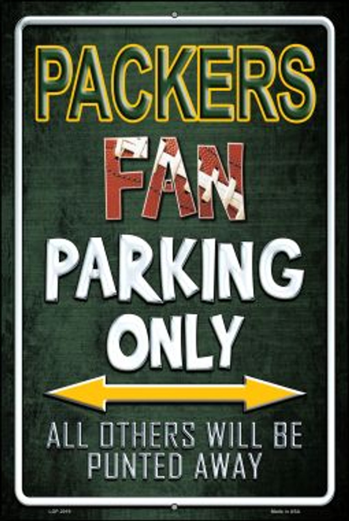 Packers Wholesale Metal Novelty Large Parking Sign LGP-2027
