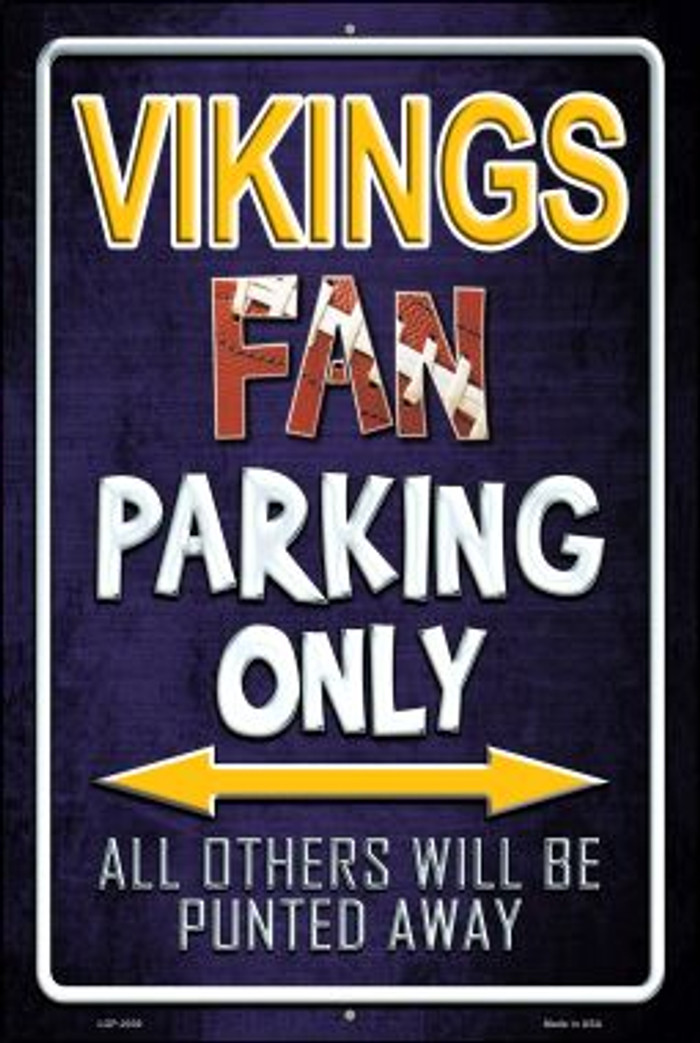 Vikings Wholesale Metal Novelty Large Parking Sign LGP-2039
