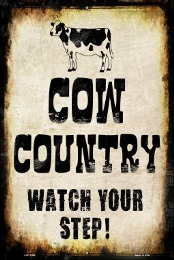 Cow Country Wholesale Metal Novelty Large Parking Sign LGP-1380
