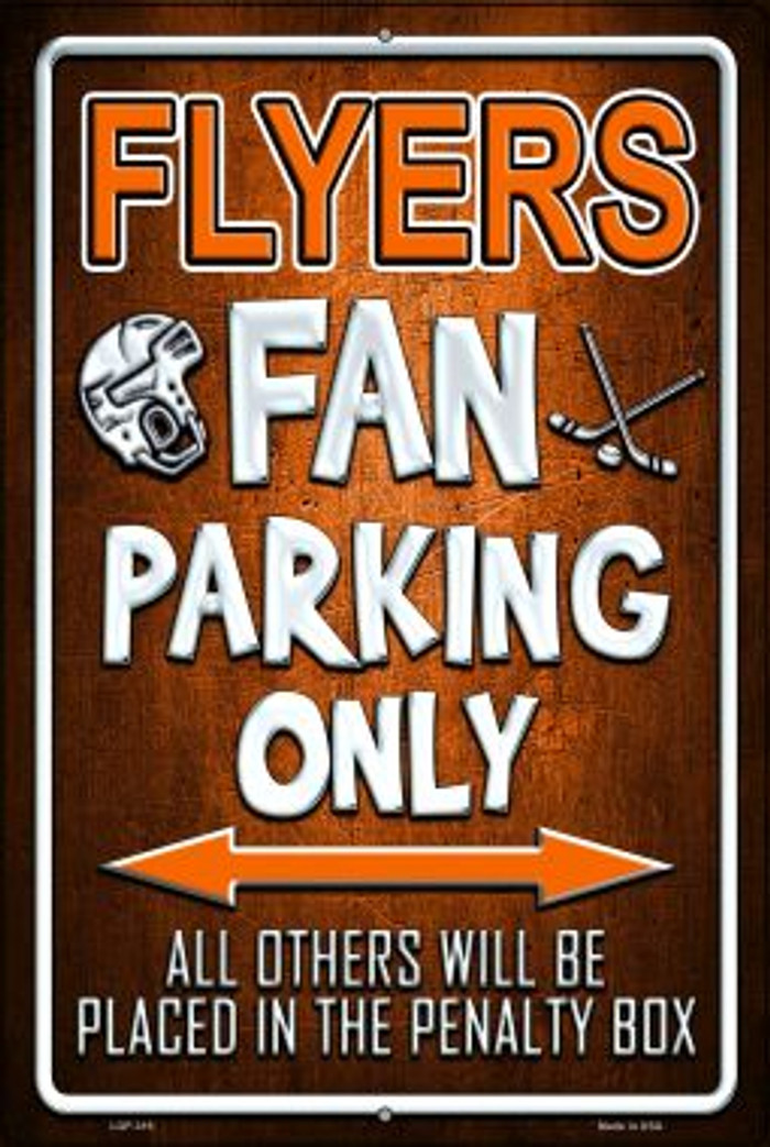 Flyers Wholesale Metal Novelty Large Parking Sign LGP-319