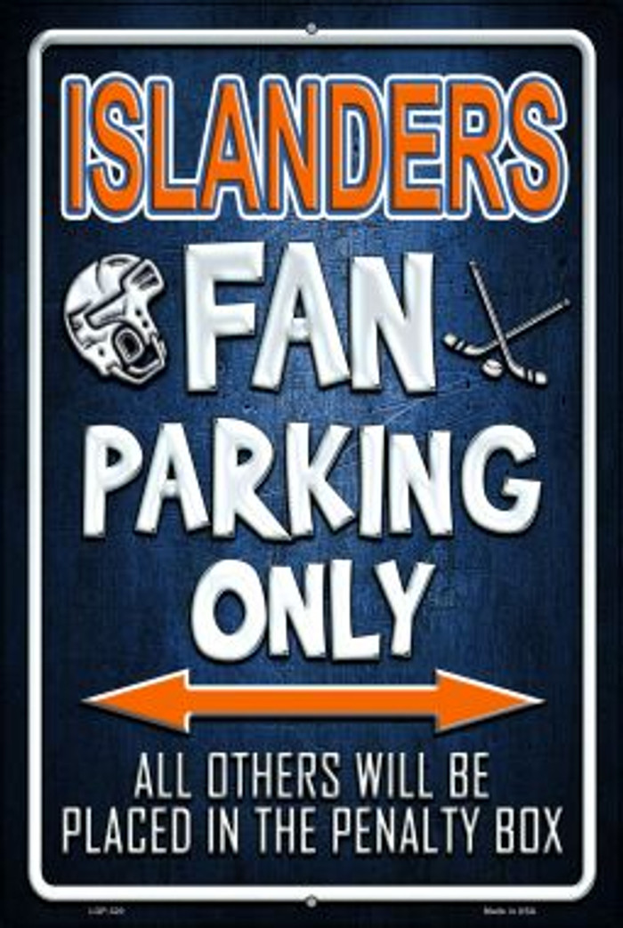 Islanders Wholesale Metal Novelty Large Parking Sign LGP-320