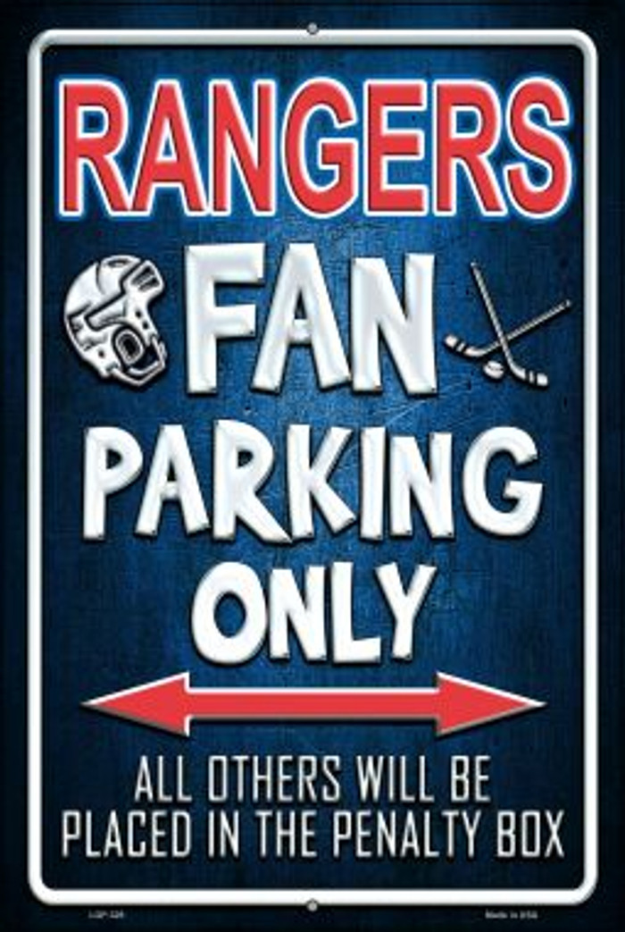Rangers Wholesale Metal Novelty Large Parking Sign LGP-328