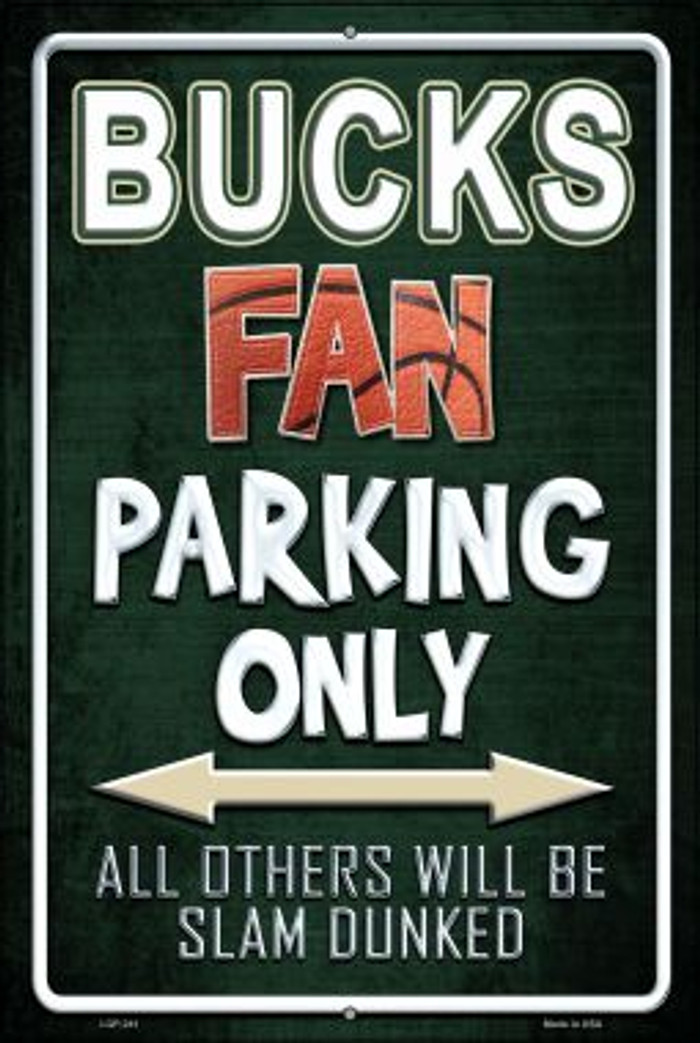 Bucks Wholesale Metal Novelty Large Parking Sign LGP-241