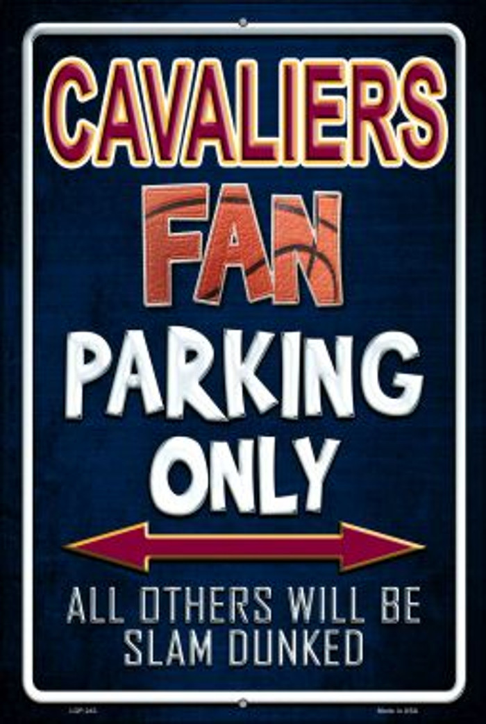 Cavaliers Wholesale Metal Novelty Large Parking Sign LGP-243
