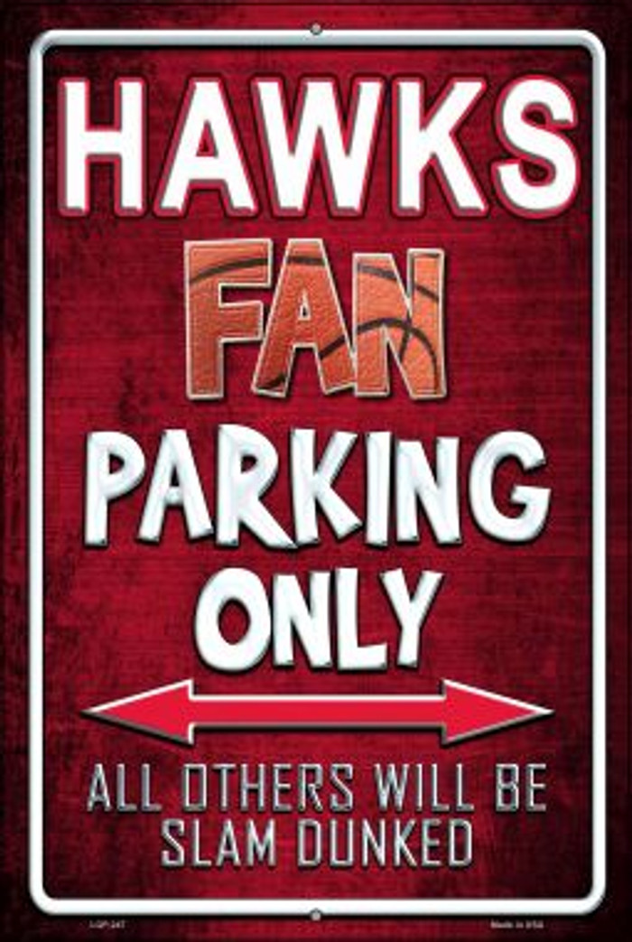 Hawks Wholesale Metal Novelty Large Parking Sign LGP-247