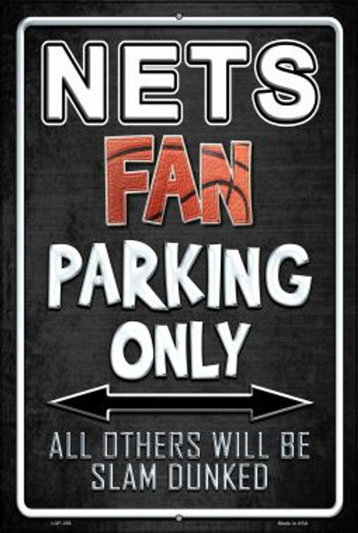 Nets Wholesale Metal Novelty Large Parking Sign LGP-256