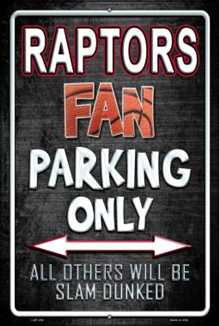 Raptors Wholesale Metal Novelty Large Parking Sign LGP-260
