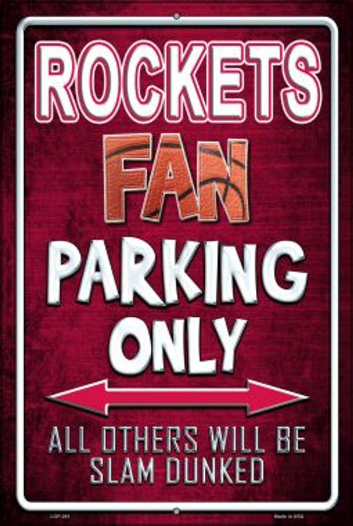 Rockets Wholesale Metal Novelty Large Parking Sign LGP-261