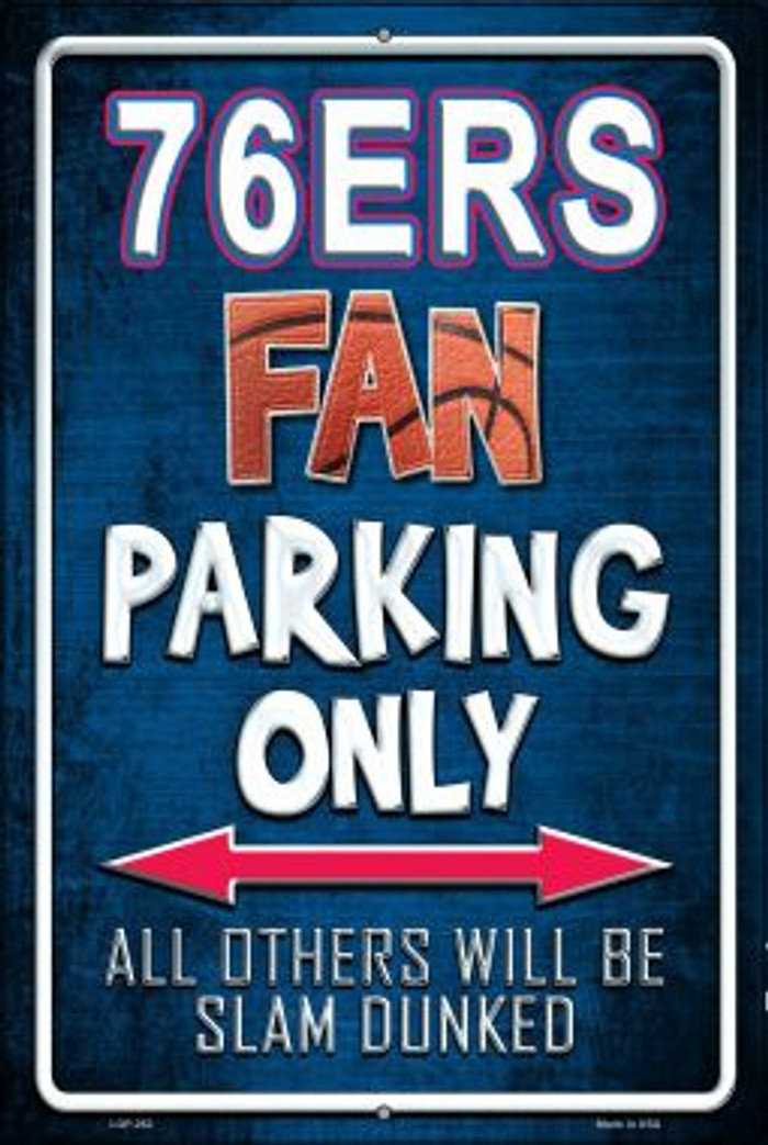 76ers Wholesale Metal Novelty Large Parking Sign LGP-262