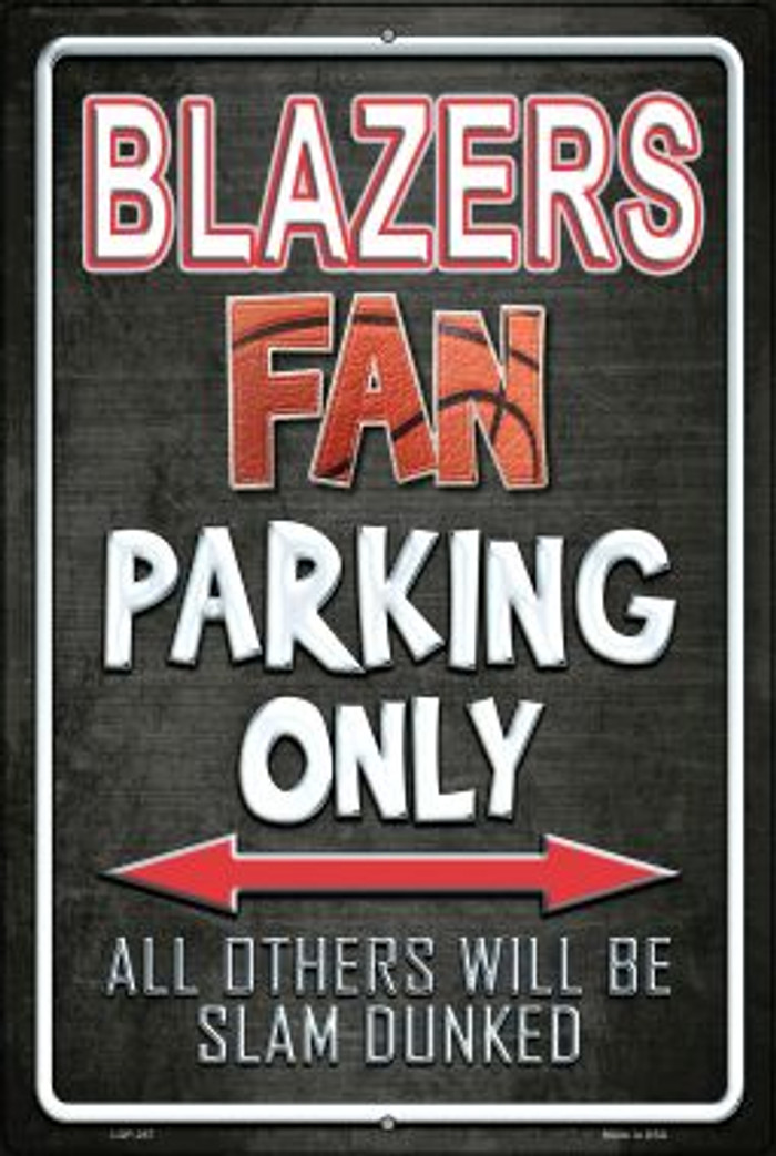 Trail Blazers Wholesale Metal Novelty Large Parking Sign LGP-267