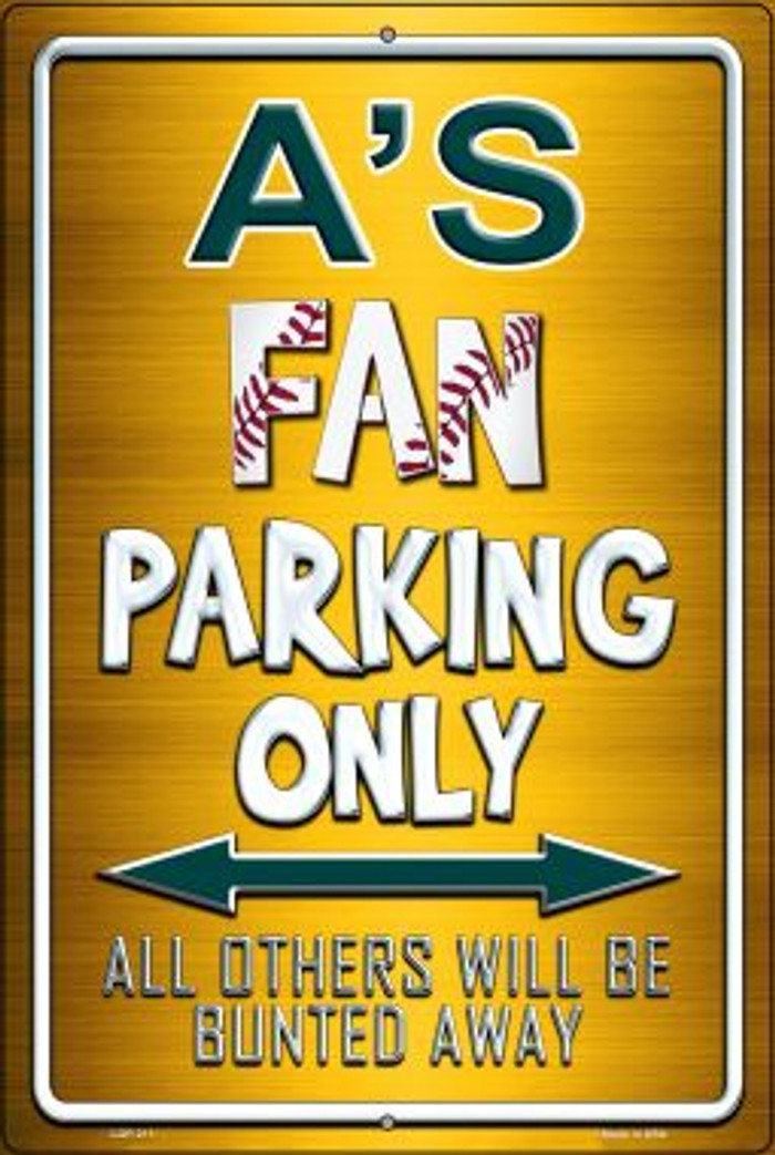 Athletics Wholesale Metal Novelty Large Parking Sign LGP-211