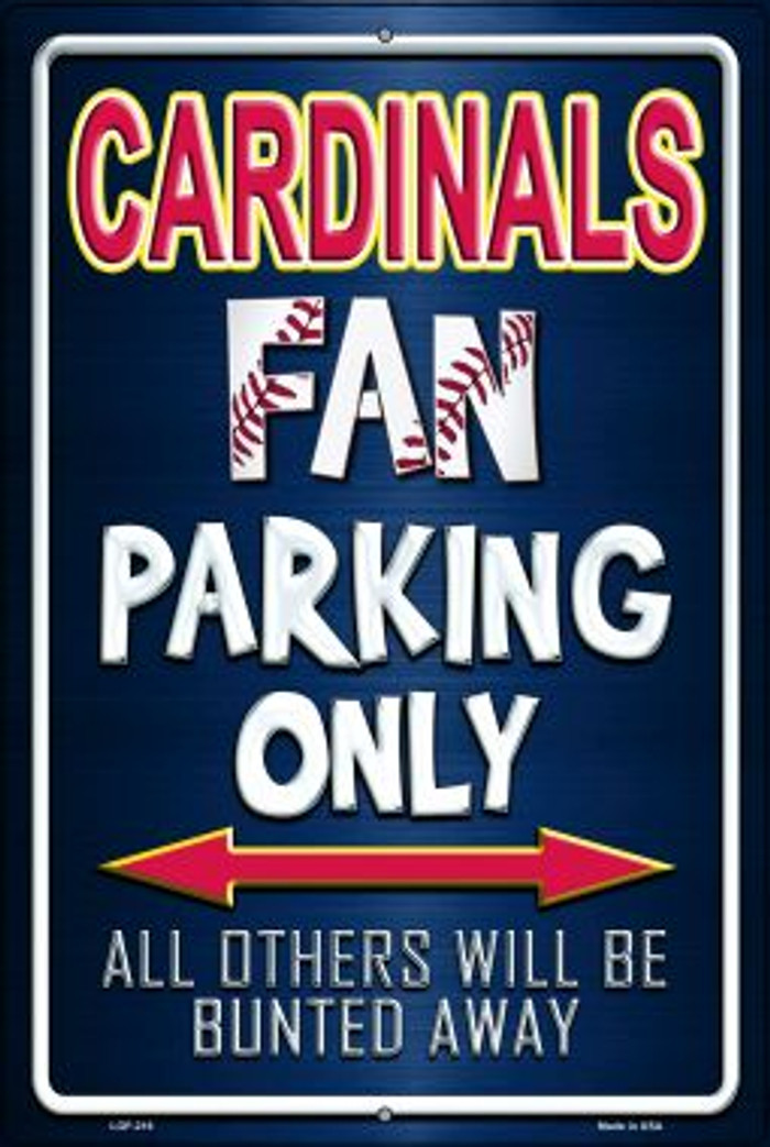 Cardinals Wholesale Metal Novelty Large Parking Sign LGP-216