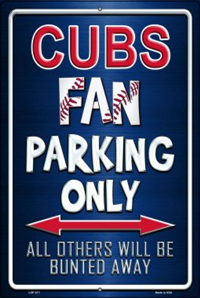 Cubs Wholesale Metal Novelty Large Parking Sign LGP-217