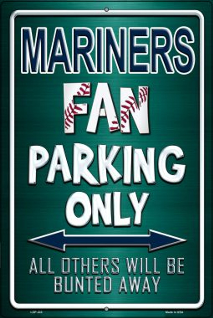 Mariners Wholesale Metal Novelty Large Parking Sign LGP-222