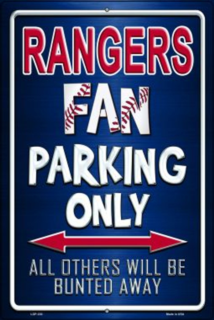 Rangers Wholesale Metal Novelty Large Parking Sign LGP-230