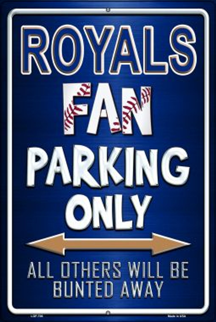 Royals Wholesale Metal Novelty Large Parking Sign LGP-235