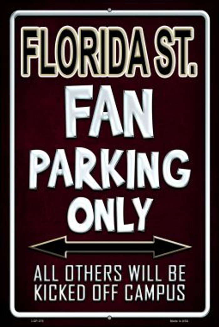 Florida State Wholesale Metal Novelty Large Parking Sign LGP-276