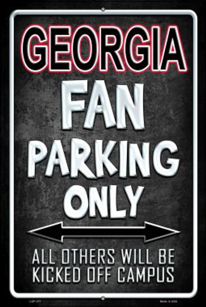 Georgia Wholesale Metal Novelty Large Parking Sign LGP-277