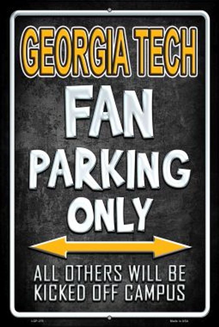 Georgia Tech Wholesale Metal Novelty Large Parking Sign LGP-278